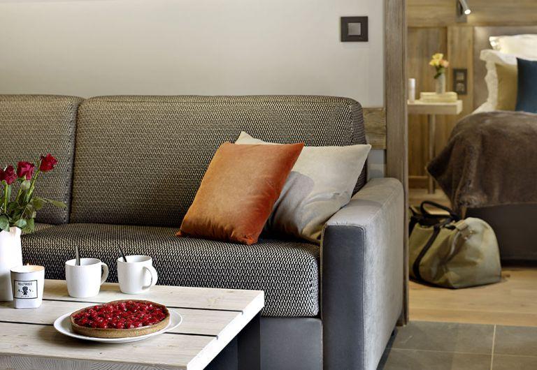 Les Chalets Éléna livingroom- Les Houches | MGM Hôtels & Résidences