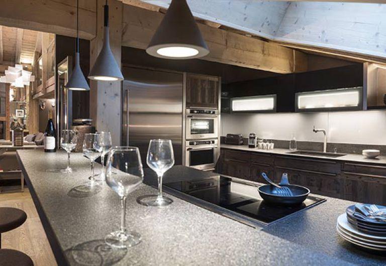 L'Écrin de Jade - cuisine salon - Chamonix-Mont-Blanc | MGM