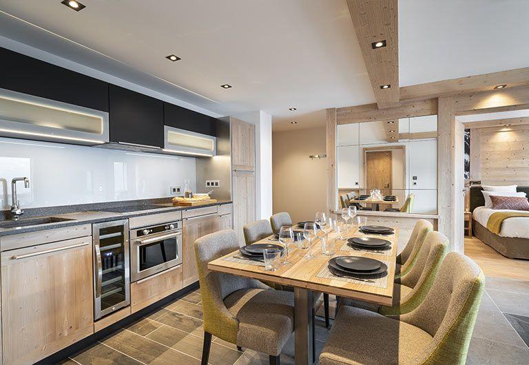 Apartment Kitchen Résidence Alpen Lodge - La Rosière | MGM Hôtels & Résidences