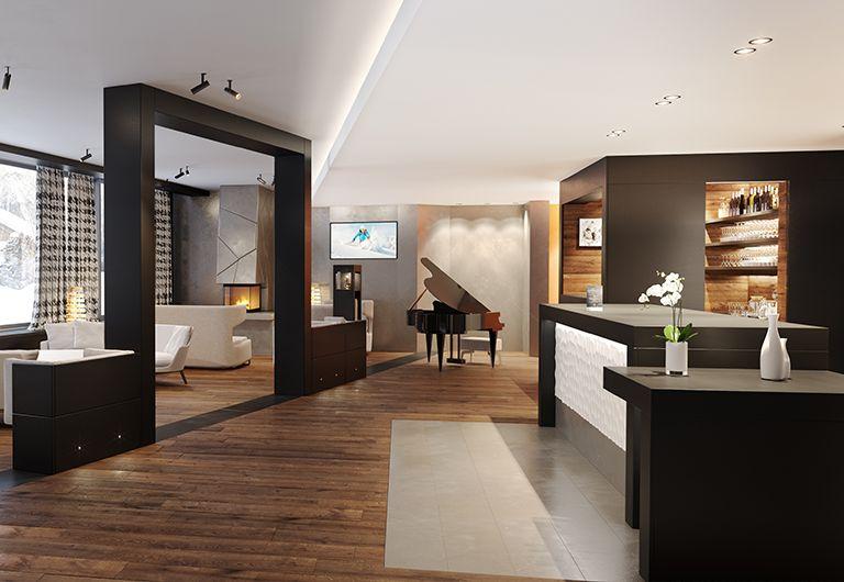 Bar lounge- Chalets Laska - Les Contamines-Montjoie | MGM Hôtels & Résidences