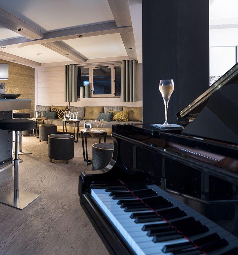 Le piano bar - Résidence Le Roc des Tours - Le Grand-Bornand