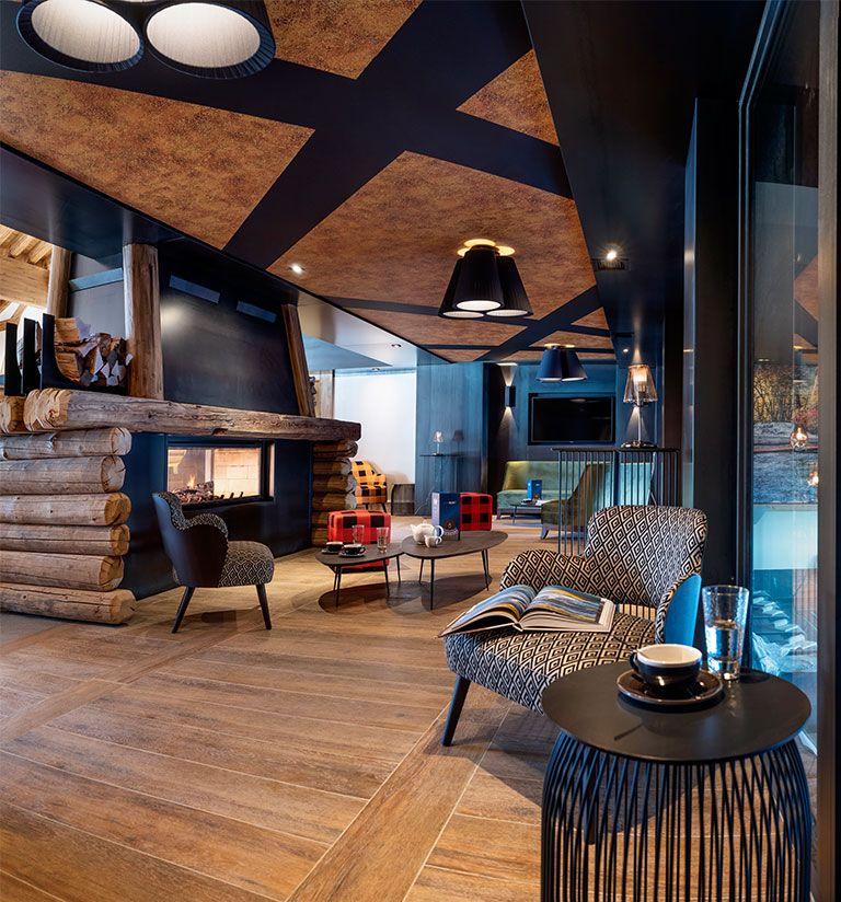 Salon coin cheminée - Résidence amaya - Les Saisies   MGM Hôtels & Résidences