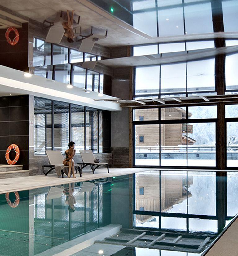 Espace bien-etre piscine - Chalets Laska - Les Contamines-Montjoie   MGM Hôtels & Résidences