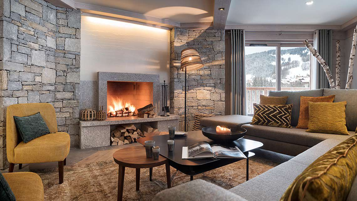 Living Room of Roc des tours at the Grand-Bornand